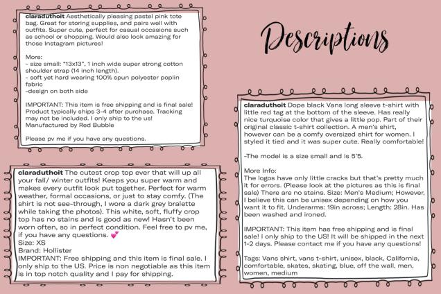 Descriptions (1)