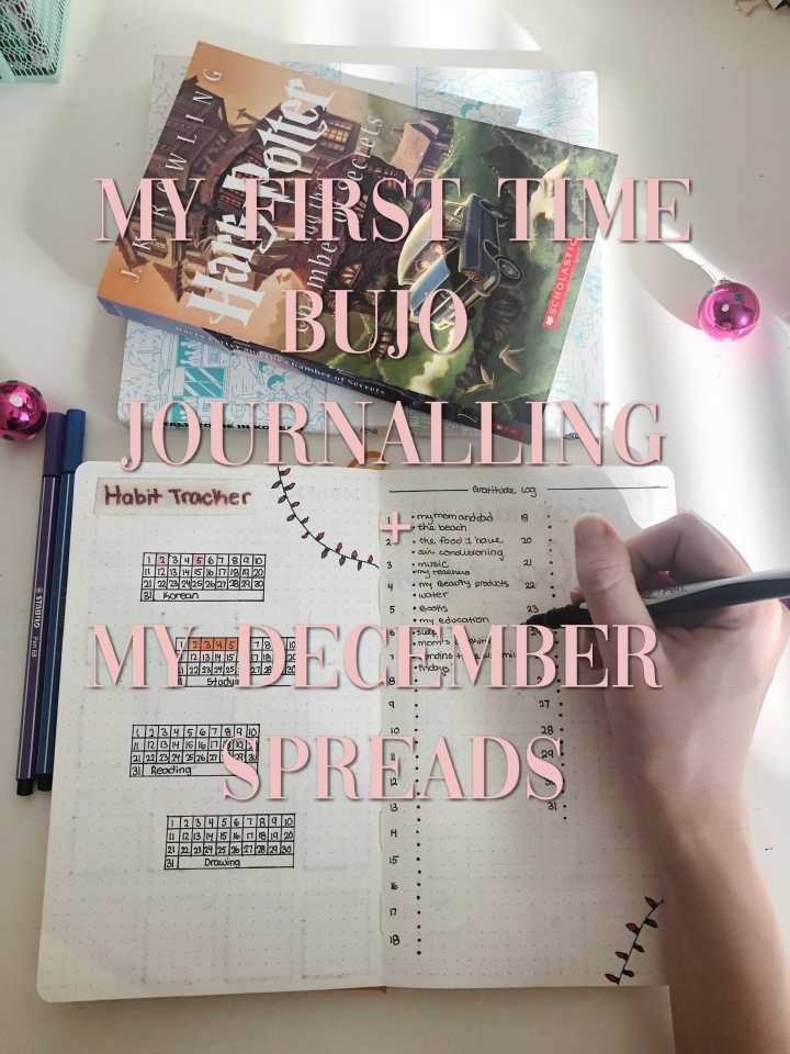 My First Time Bujo Journaling + My Messy December Spreads