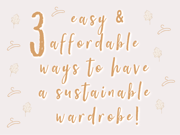 3 Affordable Ways to Make Your Wardrobe Sustainable + Brands to Support!